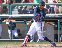 News Photo : Nick Markakis of the Atlanta Braves hits in the...