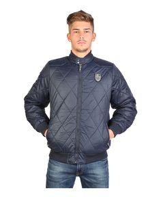Jacket man - 100% polyester - zip closure  - 3 external pockets - wash at 30° - Jacket men borekas Blue