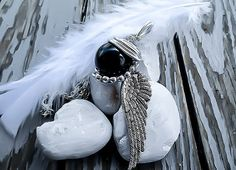 Final Fantasy, Sephiroth Necklace, Final Fantasy Jewelry, Black Materia, Final Fantasy 7, Sephiroth Materia, One Winged Angel, Mako Necklace