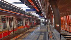 Metro de Santiago - Linea 4 - Elisa Correa - Santiago - Chile - Puente Alto.