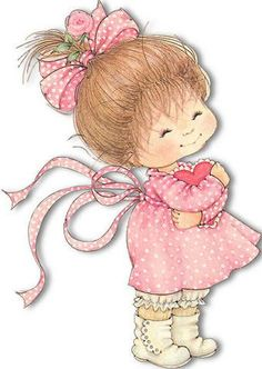 love this artist - Ruth Morehead Cute Little Girls, Cute Kids, Cute Images, Cute Pictures, Image Digital, Holly Hobbie, Cute Clipart, Illustrations, Cute Illustration