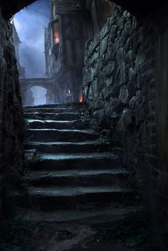ideas for dark fantasy landscape rpg Dark Fantasy, Fantasy City, Fantasy Places, Medieval Fantasy, Fantasy World, Fantasy Setting, Environment Concept Art, Old London, Fantasy Landscape