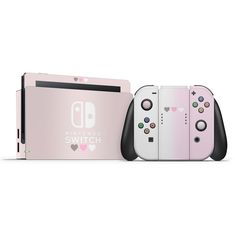 Pastel Pink & White Hearts Switch Skin - Nintendo Switch Console - Ideas of Nintendo Switch Console - Pastel Pink & White Hearts Switch Skin High quality vinyl skins to personalize and protect nintendo switch joycons and dock Nintendo Switch Accessories, Gaming Accessories, Goth Accessories, Pink White, Pink Blue, Purple Hearts, Nintendo Switch Case, Gaming Room Setup, Nintendo Characters