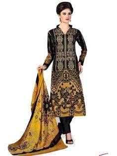 Pakistani Salwar Kameez, Pakistani Suits, Ethnic Fashion, Every Woman, Mustard, Lawn, Classy, Printed, Cotton