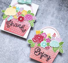 Bloomin' Cute Floral Baskets » Paper Suite Wine Bottle Tags, Autumn Rose, Berry Baskets, Shaped Cards, Color Effect, Card Tags, Note Cards, Floral Arrangements, Bloom