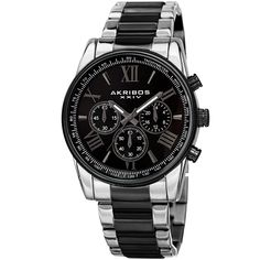 Akribos XXIV AKibos XXIV Men's Multifunction Tachymeter Stainless Steel Bracelet Watch
