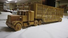 Kidman Creations - Custom wood models of any vehicle you could imagine. : Wooden Cattle Truck