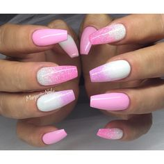 In seek out some nail designs and ideas for your nails? Listed here is our list of 13 must-try coffin acrylic nails for fashionable women. Pink Gel Nails, Gel Nail Colors, Best Acrylic Nails, Fabulous Nails, Gorgeous Nails, Nagellack Design, Fire Nails, Nagel Gel, Gel Nail Designs