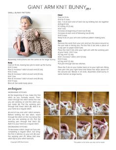 Anne Weil's Arm Knit Bunny Pattern for Sweet Paul Magazine by Sweet Paul Magazine - issuu