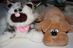 Pound puppies! I have the big one and the red puppy house and about 8 little baby pound puppies. I think at that time you could get them at Arbys