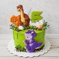 New baby boy shower dinosaur kids Ideas Toddler Birthday Cakes, Dinosaur Birthday Cakes, Dinosaur Cake, Dinosaur Party, Bolo T Rex, Dino Cake, Baby Shower Cakes For Boys, Buttercream Cake, Savoury Cake