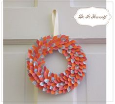 Spring wreath-  use papers in different shades of green