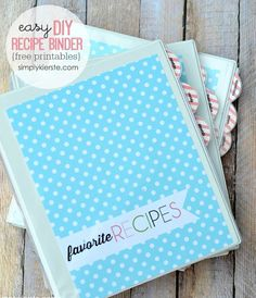 Organizing your recipes is easy with a DIY Recipe Binder! Includes tutorial and FREE printables! It streamlines, and makes meal planning so much easier!