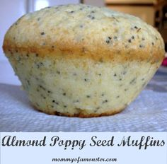 This recipe for almond poppy seed muffins creates light, airy, sweet muffins perfect for breakfast or with a cup of coffee as a snack.