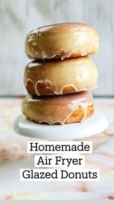 Air Fryer Oven Recipes, Air Frier Recipes, Air Fryer Dinner Recipes, Fun Baking Recipes, Sweet Recipes, Homemade Donuts, Homemade Doughnut Recipe, Baked Doughnut Recipes, Cake Pops