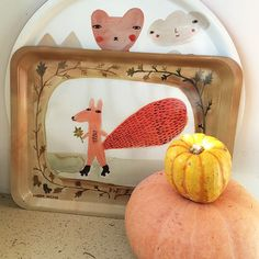 Autumn is here! Our Skating Squirrel tray + new Carnival Bears tray! x