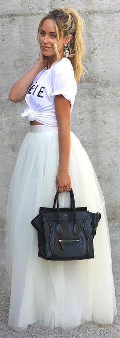 Tulle skirt. A Fashion love Affair