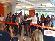 The ribbon cutting at our new office in Philadelphia.  Big thanks to Mayor Nutter!