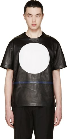99% IS Black Leather Circle T-shirt