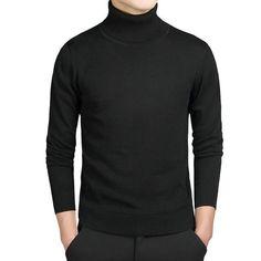 Kenntrice New Arrival Turtleneck Sweaters Men Solid Long Sleeve Pullovers Men Sweater Winter Knitwear Jumpers Jersey