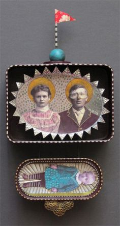 """forgotten ancestors - Julie Liger-Belair - """"I am a collector at heart, constantly collecting bits of ideas and fragments of objects, all with their own little stories to tell. By combining these in different ways in assemblage pieces, they form new narratives and meanings of their own."""""""