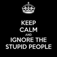 Ignore the Stupid People