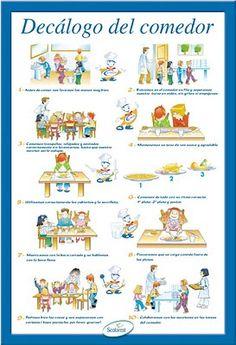 Reglas comedor menjador pinterest for Monitor comedor escolar