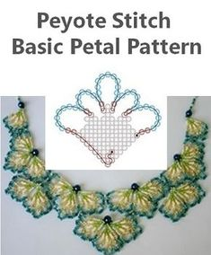 Here is a basic pattern for a petal created by Assza Beading Arts using Peyote Stitch.