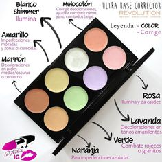 Paleta de correctores de color ULTRA BASE CORRECTOR de Makeup Revolution
