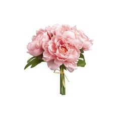 5 Flower Pink Peony Bouquet ($4.34) ❤ liked on Polyvore featuring home, home decor, floral decor, pink home decor, flower stems, pink bouquet, flower bouquets and peony flower bouquet