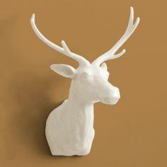 Medium Deer Trophy Head White - Wall Decor - Décor | Elementarie