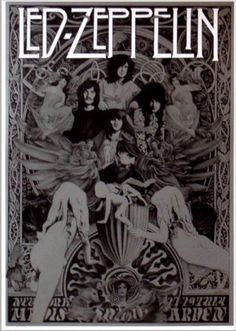 Led Zeppelin Hippie art poster.