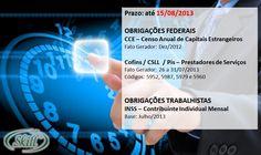 OBRIGAÇÕES FEDERAIS e TRABALHISTAS – prazo até 15/08 | Blog Skill