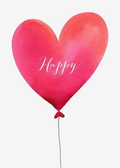 Margaret Berg Art: Happy+Heart+Balloon