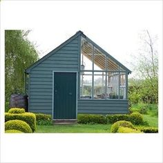 combination greenhouse and garden shed