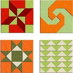 Silhouette Design Store: quilt blocks 2 - set of 4
