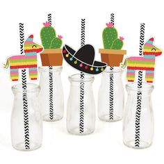 Let's Fiesta  Mexican Fiesta  Party Straw by BigDotOfHappiness