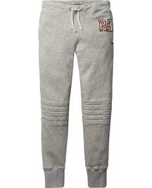 Quilted Knee Sweat Pants