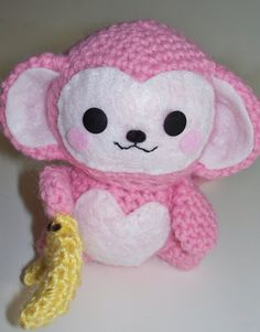 Amigurumi Monkey  Handmade Crochet Baby Animal by anniekscreations, $18.00