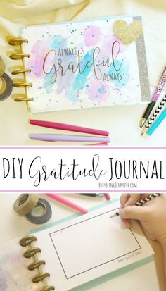 Keep the gratitude going all year long, not just at thanksgiving, with this free printable and DIY Gratitude Journal tutorial!  #ad #gratitudejournal #DIY