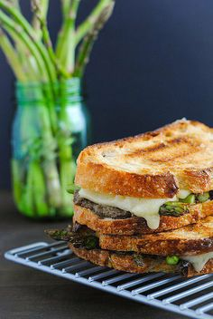 Savory Sight: Mushroom Duxelles and Asparagus Grilled Cheese