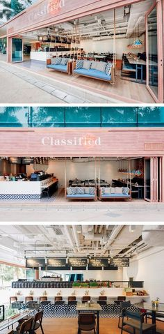 Substance have designed the latest restaurant for the dining brand Classified, i… - Einrichtungsideen Restaurant Banquette, Design Bar Restaurant, Deco Restaurant, Modern Restaurant, Restaurant Ideas, Cafe Bar, Cafe Shop, Design Café, Cafe Design