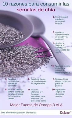 Has probado las semillas de #Chia? Descubre sus saludables beneficios