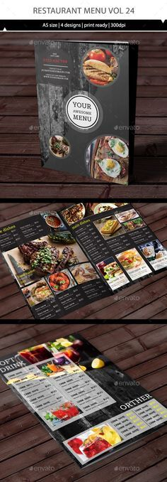 Restaurant Menu Template Vector EPS, AI Illustrator. Download here: https://graphicriver.net/item/restaurant-menu-vol-24/17421827?ref=ksioks