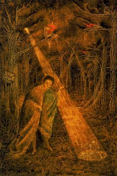 Música solar. 1955. Óleo sobre masonite. 91 x 61 cm. Colección particular. México. Surrealismo. Remedios Varo. (oil on masonite panel, private collection)