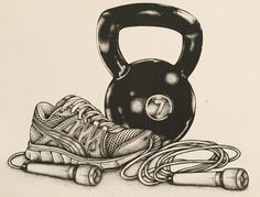 A small drawing I did for pal/training addict @trainingdiaryblog . Kinda like it ! #art #artist #artwork #artstagram #behance #bap #behancewip #create #draw #drawing #fitness #sneakers #running #kettlebell #dotwork #fitinsta #instadraw #instafit #blackandwhite #streetart #illustration #illustrator #instagood #instafollow