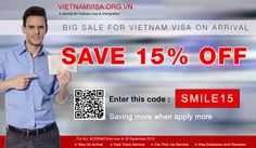 UP TO 15% OFF #DISCOUNT to get #VietnamVisa On Arrival Get the hugest discount from http://www.vietnamvisa.org.vn