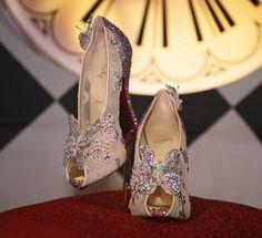 "Louboutin Cinderella ""glass slippers""."