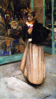 The Milliner's Window by George Henry (Scottish 1858-1943)