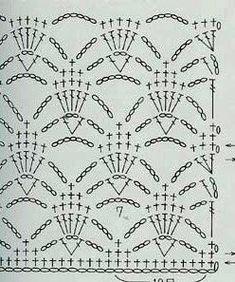 How to Crochet Wave Fan Edging Border Stitch Crochet Stitches Chart, Crochet Motifs, Crochet Borders, Crochet Diagram, Crochet Squares, Knit Or Crochet, Filet Crochet, Granny Square Crochet Pattern, Crochet Hooks